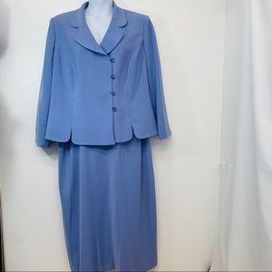 Le Suit 20W Lavender/Purple  Jacket Long Skirt H3